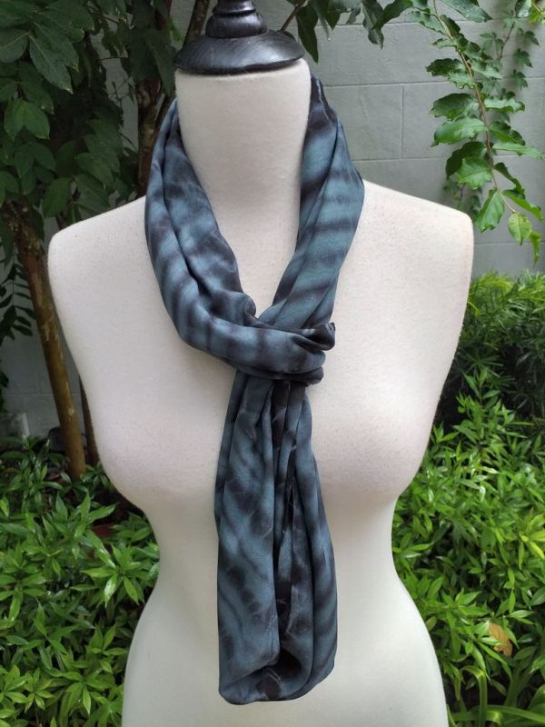 XDI655d Bright Color TieDye Rayon Infinity Scarf