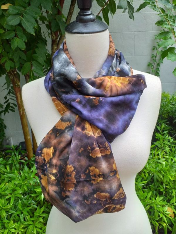 XDI667c Bright Color TieDye Rayon Infinity Scarf