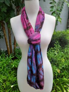 XDI670d Bright Color TieDye Rayon Infinity Scarf