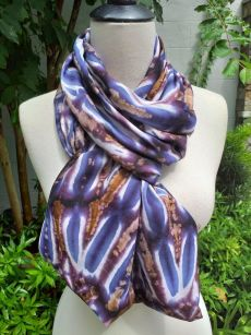 XDI712c Bright Color TieDye Rayon Infinity Scarf