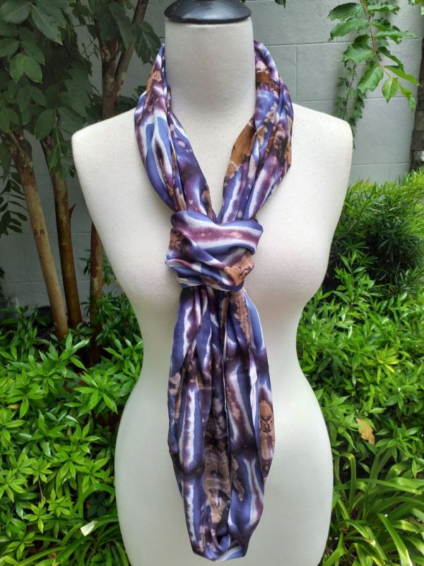 XDI712d Bright Color TieDye Rayon Infinity Scarf