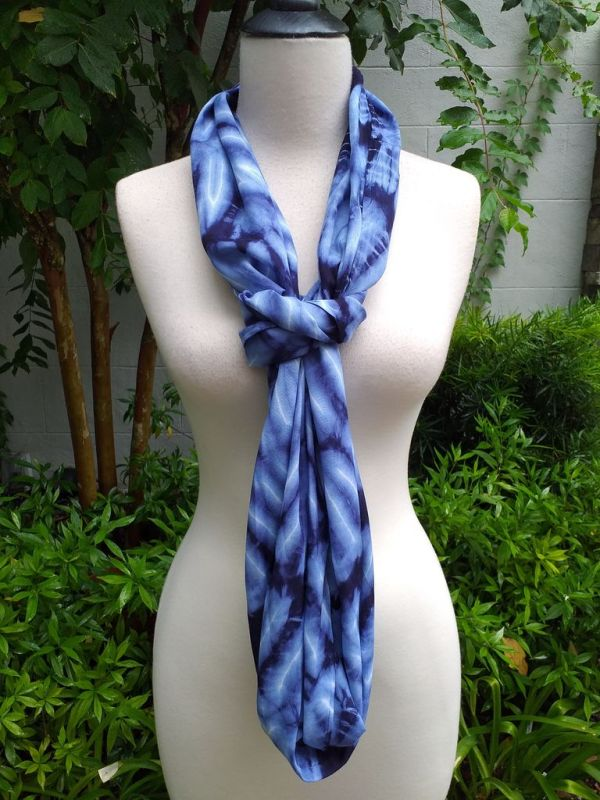 XDI765d Bright Color TieDye Rayon Infinity Scarf