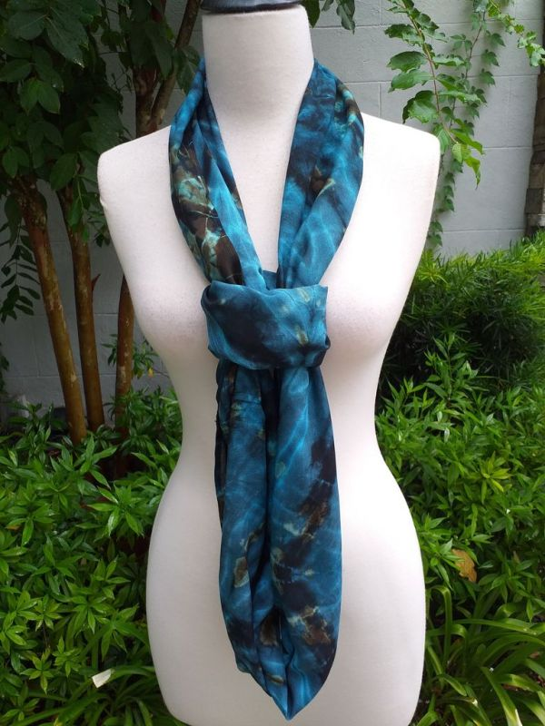 XDI835d Bright Color TieDye Rayon Infinity Scarf