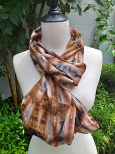 XDI855c Bright Color TieDye Rayon Infinity Scarf