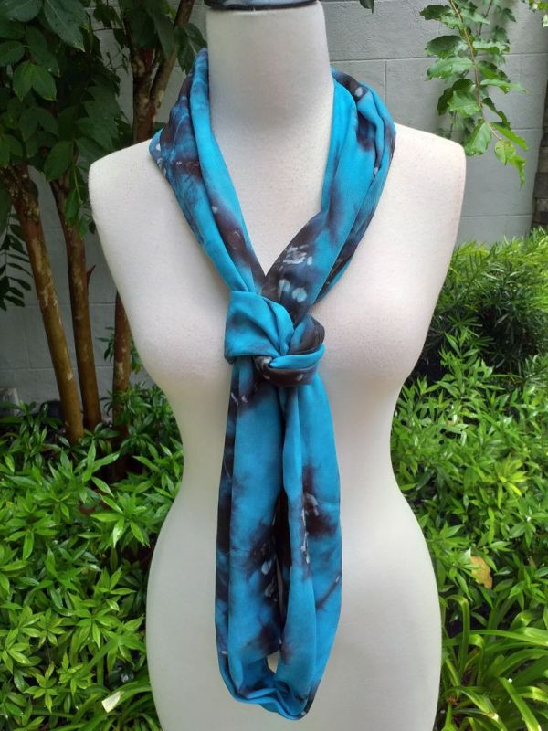 XDI964d Bright Color TieDye Rayon Infinity Scarf