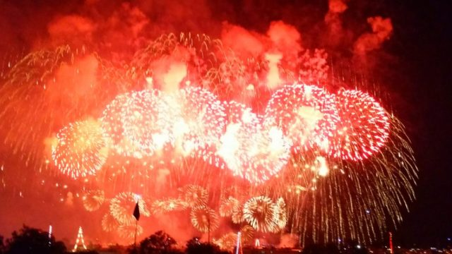 August in Malta - The sky is set alight by numerous fireworks festivals during whole evening of 15 August