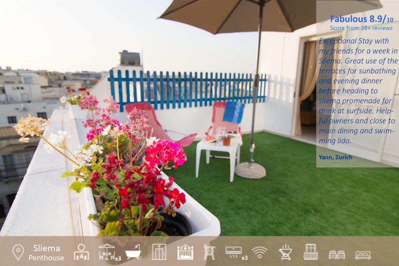 Sliema Malta Holiday Rentals