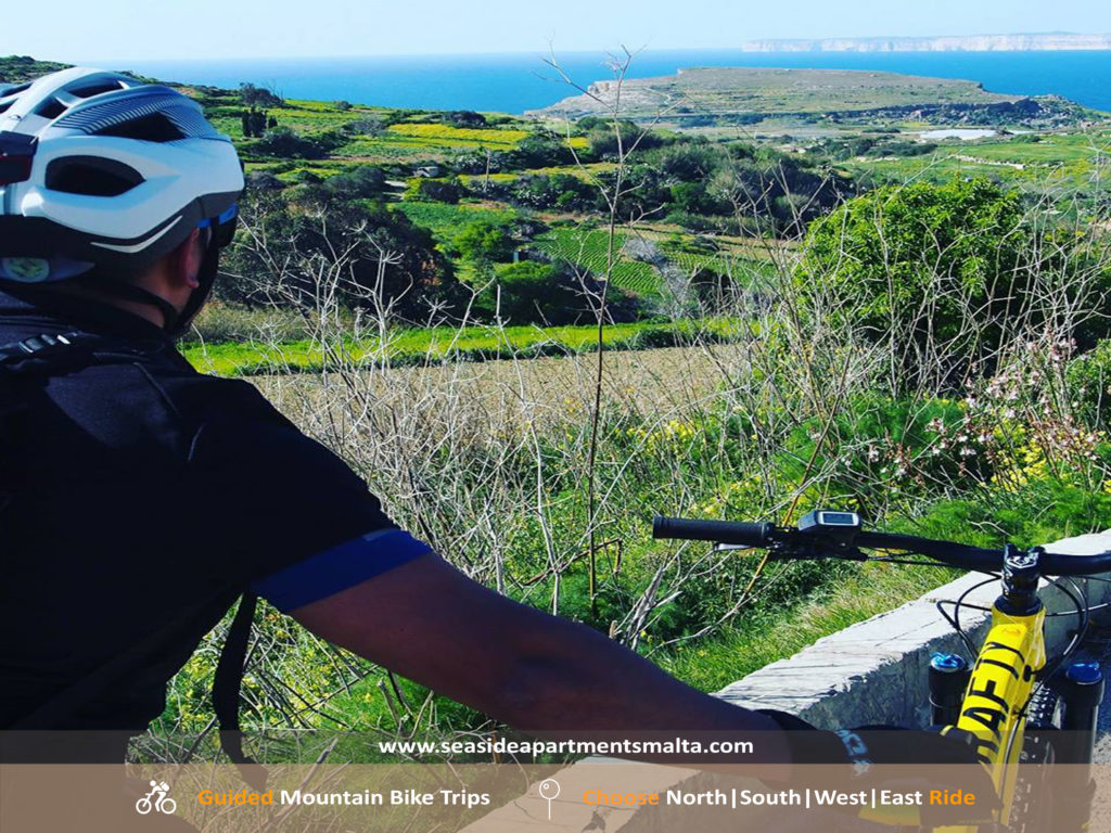 Enjoy Open Country Views while cycling around Malta