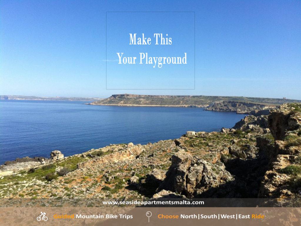Stunning Views While on Mountain Bike Tour in Malta