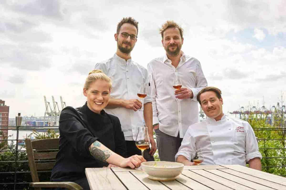 Von links nach rechts: Henriette, Sebastian, Adrian und Florian