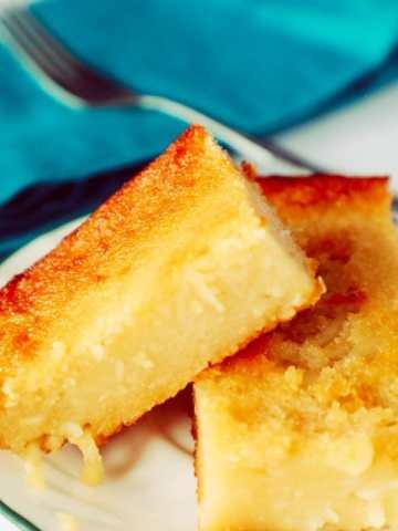 cassava cake on a plate