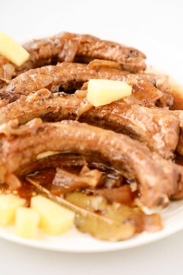 Adobo Pork Ribs via @seasiderecipes