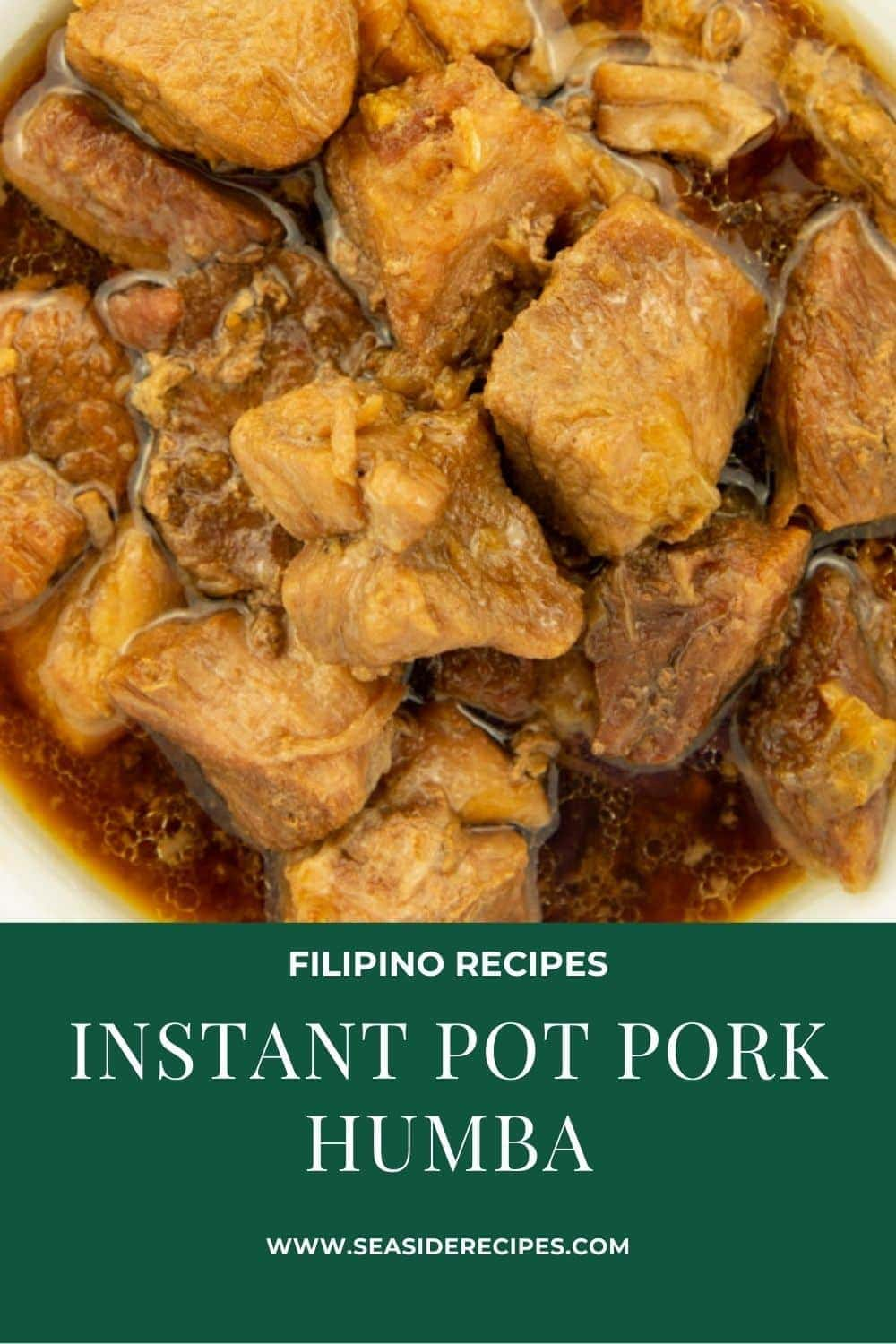 Instant Pot Filipino Pork Humba is very tender and tastes delicious. Quick and easy way to make a very tender pork humba. The sweet and slightly sour taste of the pork humba is perfect eaten with rice. #instantpotrecipes #filipinoporkhumba #filipinoporkrecipes #porkhumbabisaya #instantpotporkhumba via @seasiderecipes