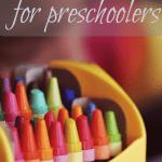 Preschool Activities: Pipe cleaners