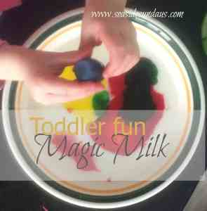 Toddler Science: Magic Milk