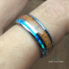 hawaiian koa wood ring hand view