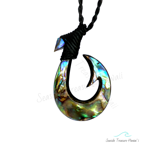 inside barb fish hook necklace