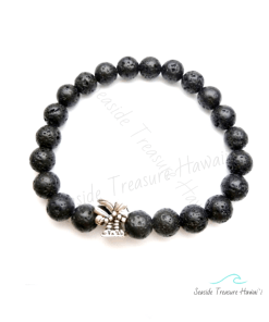 lavastone bracelet with palm charm