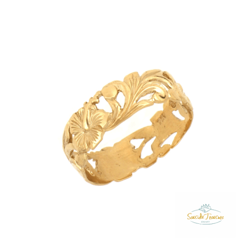 hybiscus scroll ring