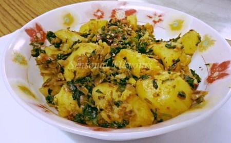 Aloo Methi Fry Punjabi style Recipe