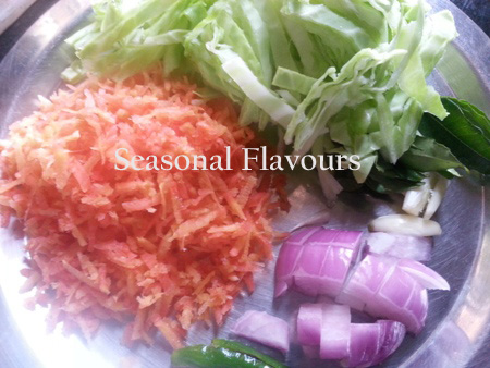 Ingredients for Kerala Thoran Recipe
