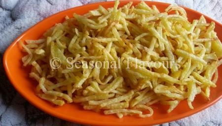 Crisp And Salted Potato Sticks Recipe