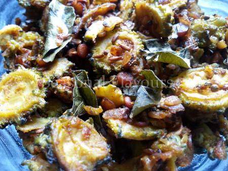 Kakarakaya Ullipaya Masala Vepudu Kura Recipe
