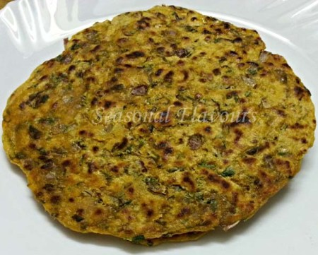 Fenugreek Leaves Paratha Punjabi Recipe