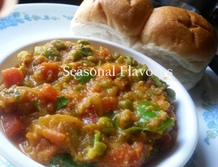 Mumbai Pav Bhaji Street Food Recipe