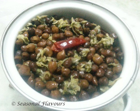 Sojne Phool Kala Channa Fry Recipe