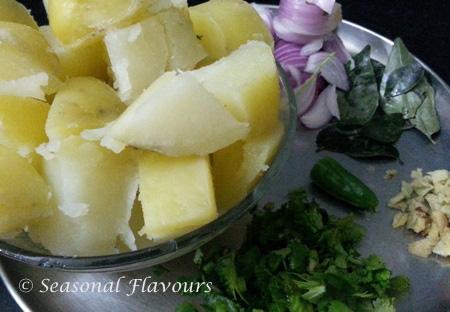 Potato Masala Ingredients for Dosa