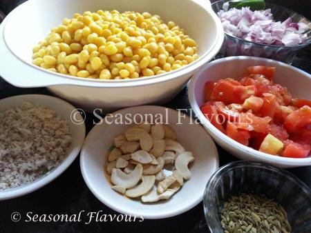 Soya Beans Curry Ingredients