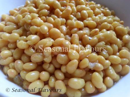 Boiled Soya Beans for Soya Bean Masala