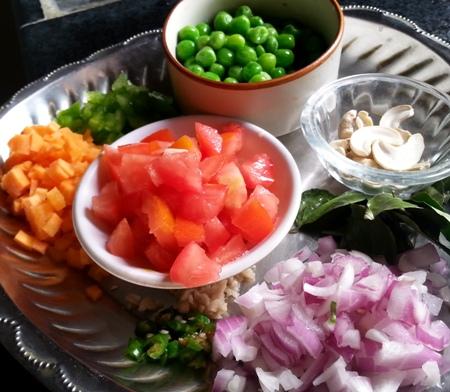 Andhra Semolina Upma Ingredients