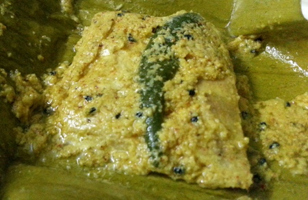 Bhetki Macher Paturi Recipe