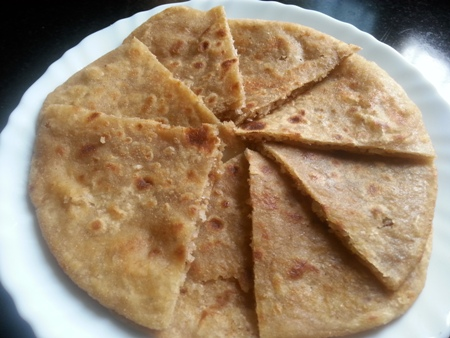 Sweet Paratha with coconut filling