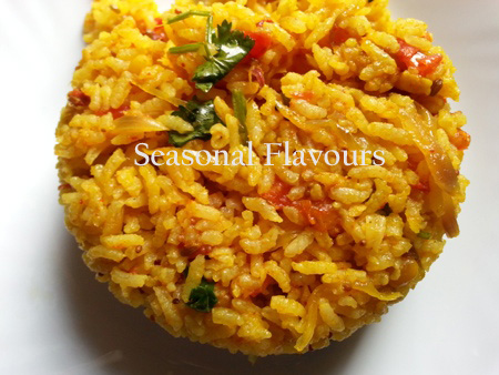 Spicy Tomato Flavoured Masala Rice Recipe