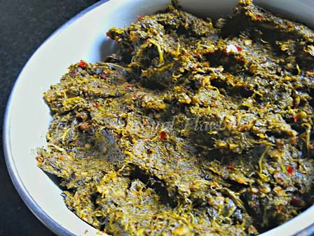 Gongura leaves paste for pulicha keerai chutney