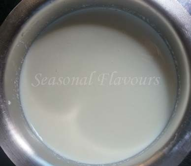 Boil milk for Sandesh recipe