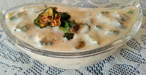 bhindi ka raita recipe