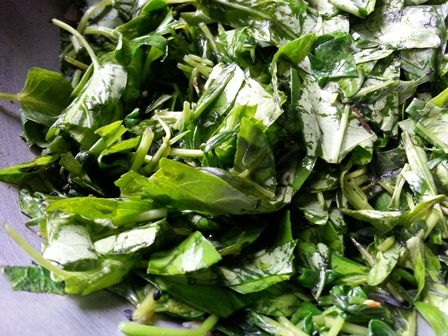 Ong choy stir fry recipe preparation