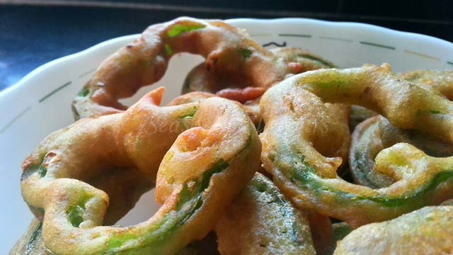 Shimla Mirch Bhajji Recipe