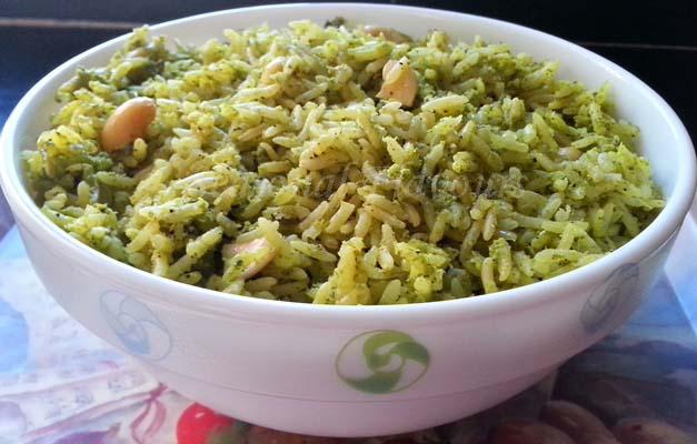 Kothimeera Kobbari Annam Recipe