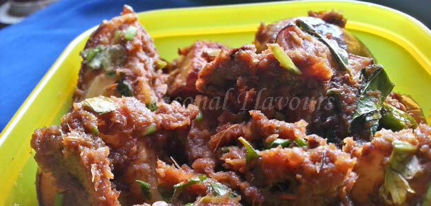 Spicy eggplant masala fry recipe