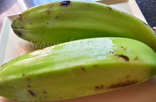 Green plantains for kacha kela cutlet recipe