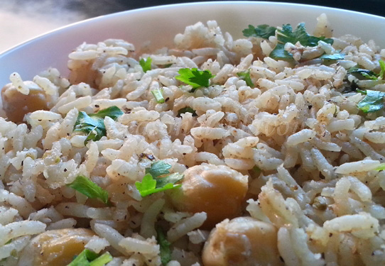 Chickpeas Pulao Recipe Indian