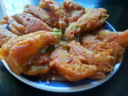 Agathi Flower Fritters Recipe Bengali style