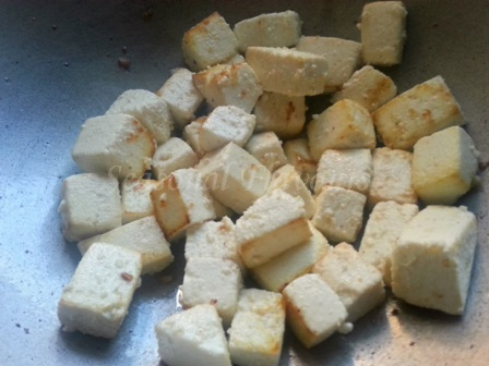 Fry paneer for Chinese Stir Fry Recipe