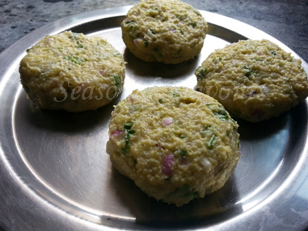 Khichuri tikkis for vegetarian kebab recipe