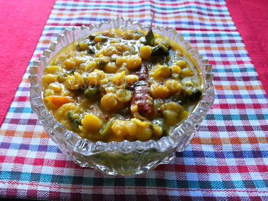 Palak Chana Dal Recipe